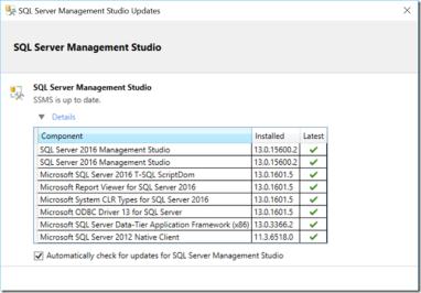 SQL Server Management Studio 2016: Quick Overview – The
