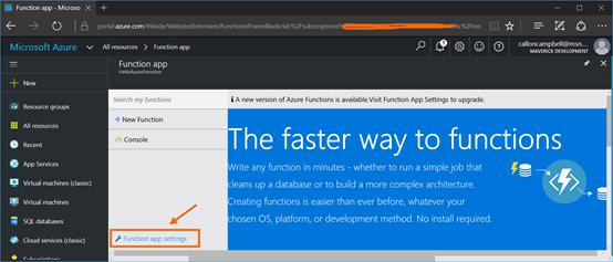 Function App Settings 1