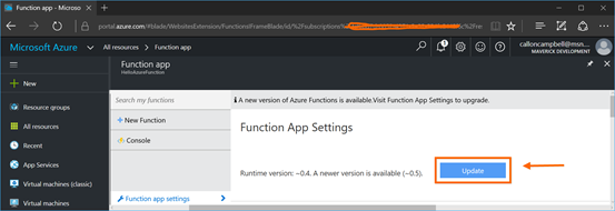 Function App Settings 2