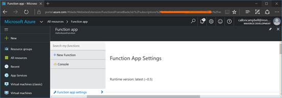 Function App Settings 3