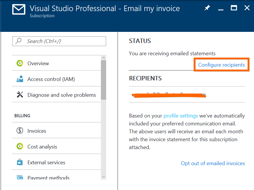 Get Azure Invoices Emailed Directly To Your Inbox The Flying Maverick - Emailed invoice