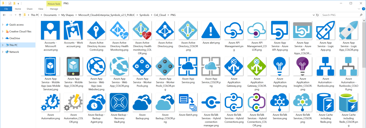 microsoft azure symbol    icon set download  u2013 visio stencil