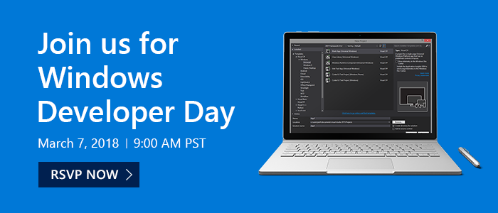 WindowsDeveloperDay-Mar72018