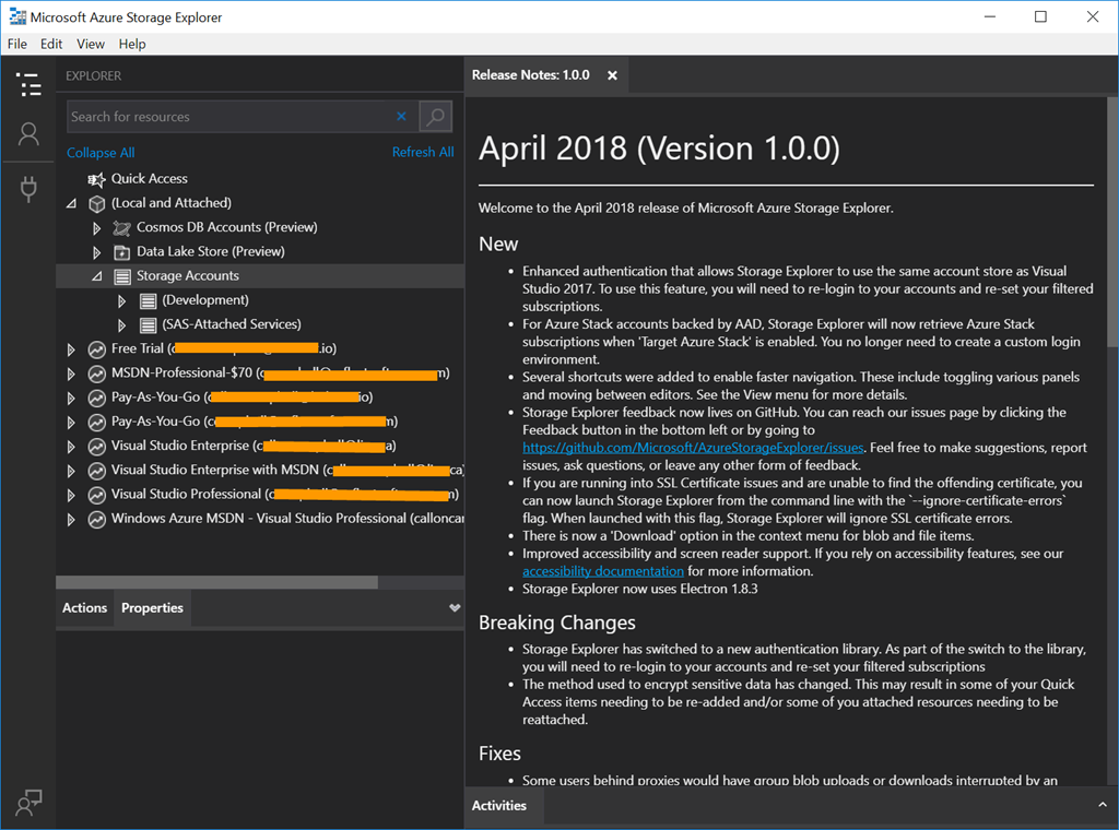 Azure Storage Explorer Reaches 1 0 – The Flying Maverick