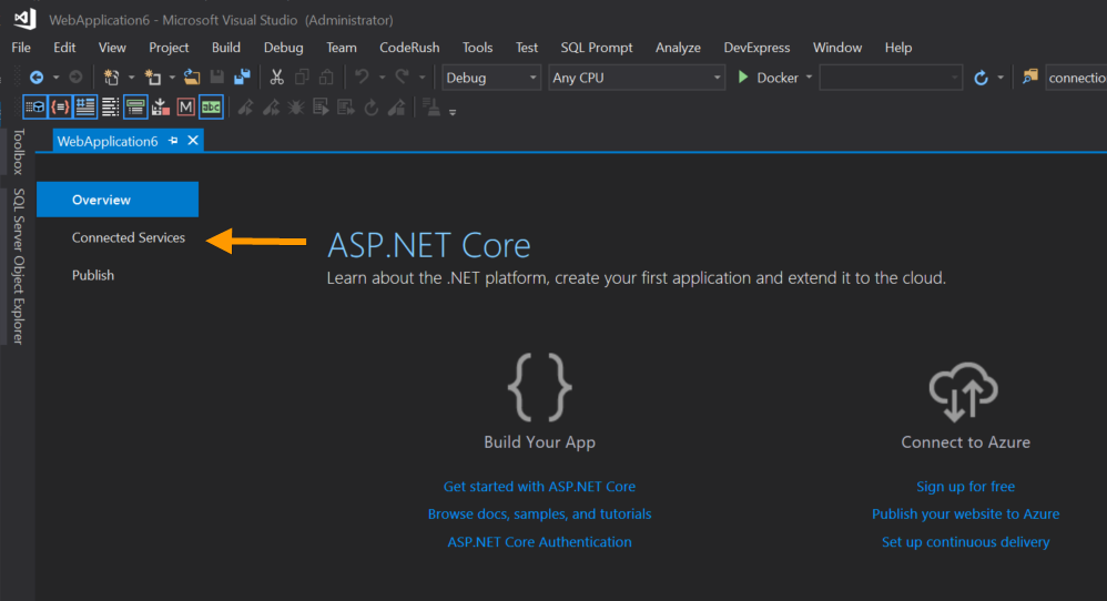 Connecting your code to the cloud with Visual Studio