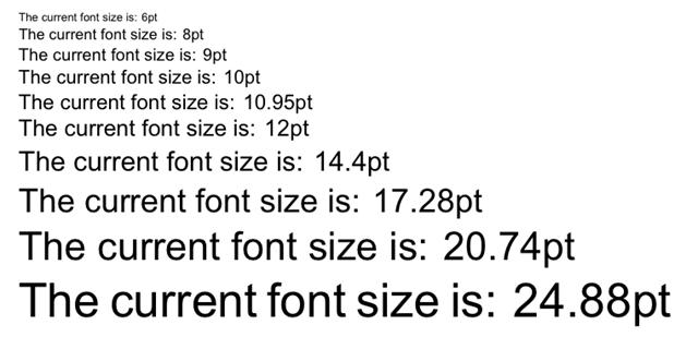 FontSize